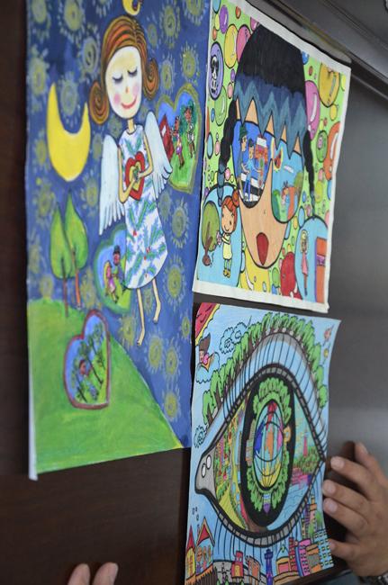 烟台举办 我眼中的城市文明 儿童绘画大赛