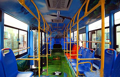 3d手绘公交闪亮登陆烟台 23日可免费试乘