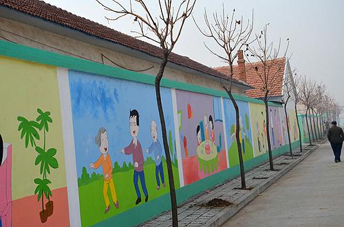 """[烟台]龙口市文化墙""""秀""""出文明正能量"""
